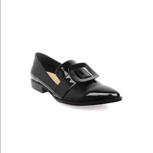 Who What Wear Tibby patent buckle loafers (NWOT)